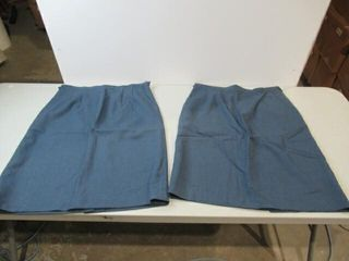 2  Blue Womens Skirts Size 6736