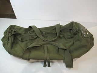 As Is Green Army Dufflebag Approx 30  long