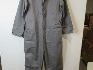 Mens Grey Overalls Size large Regular