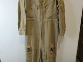 Mens Tan Combat Flyers Coveralls Size Medium Tall