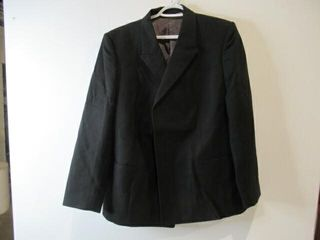 Mens Black Dress Jacket  Navy Size large Regular