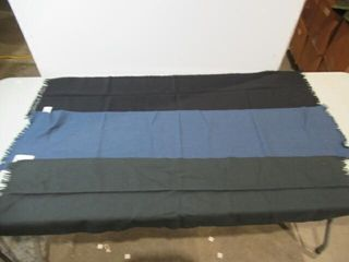 3  Dress Scarves  Blue  Black    Green