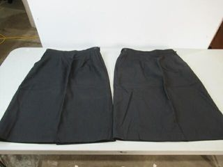 2  Black Navy Dress Skirts  Size Small Short