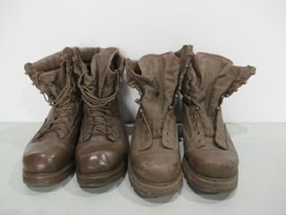 2  Pairs of Brown Combat Boots