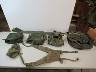 lot of Various Pouches  Canteen Pouch  Web Belt