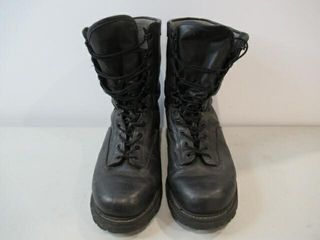 Boulet Black leather Combat Boots  Size 14 1 2