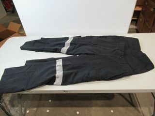 2  Black Cargo Pants With Reflective Stripes