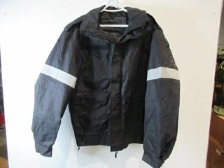Black Bomber Style Jacket With Reflective