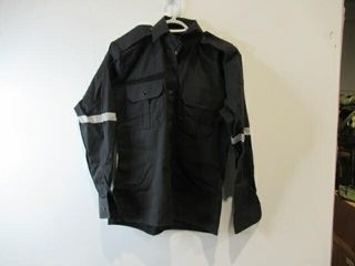 2  Black long Sleeve Shirts With Reflective