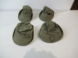 lot of 4 Assorted Combat Caps  Assorted Sizes