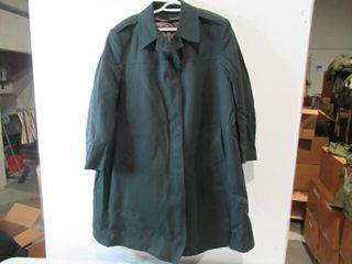Army Green Dres Overcoat  Size Small Short
