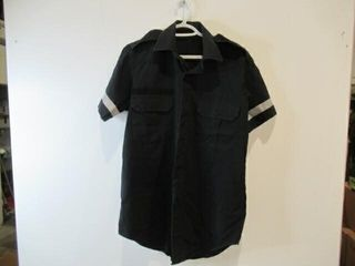 Black Short Sleeve Shirt With Reflective Stripes