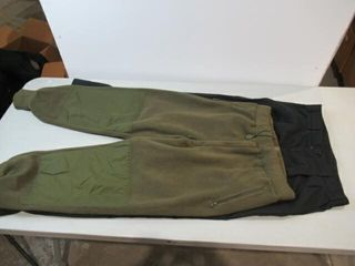2  Black Naval Combat Pants   Combat Sweat Pants