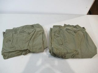 2  As Is Pair of Combat Pants  Size Small Tall