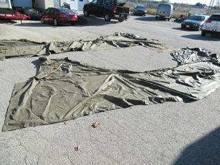 As Is 2 Pieces Army Field Tent Possibly End Part
