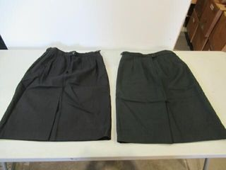 2  Womens Dress Skirts  1 Black  1 Green