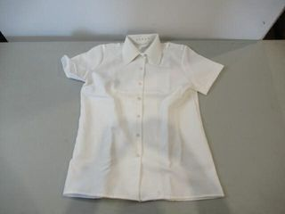 Womens Dress Shirt  Short Sleeve  Size Medium 14