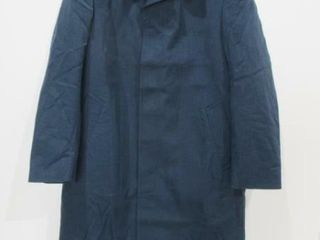 Mens Blue Overcoat with Removable liner