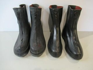 2  Pairs of Rubber Overboots  Size 12