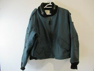 Blue Bomber Jacket  Size  large Short