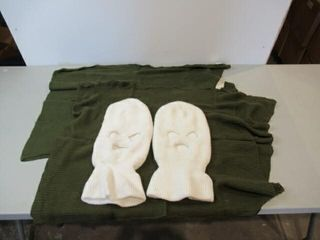 lot of 2 Combat Scarves   2 White Belaclavas