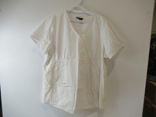 3  White Scrubs Tops  Size X large