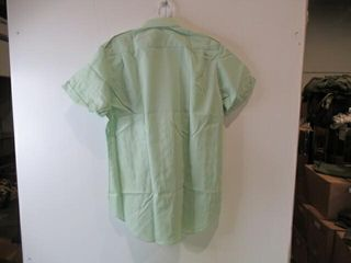 4  Mens Green Short Sleeve Shirts  Size 16 1 2
