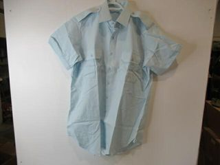 Mens Blue Short Sleeve Dress Shirt  Size 16 1 2