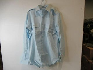 Mens Blue long Sleeve Dress Shirt  Size 15 1 2