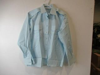 Womens Blue long Sleeve Dress Shirt  Size 20m 33