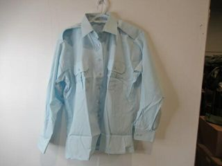 Womens Blue long Sleeve Dress Shirt  Size 22 33