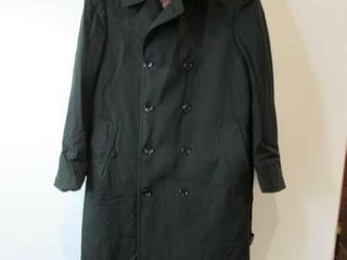 Mens Green Dress Overcoat  Size Small Regular
