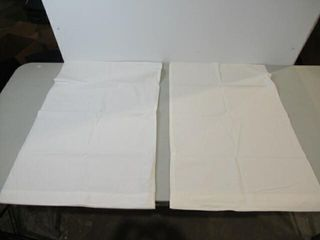 2 White Pillow Cases
