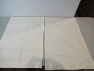 2 Off White Pillow Cases