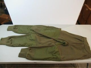 2  Pair Green Combat Sweat Shirts  Size Small