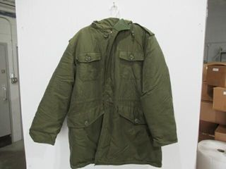 Heavy Parka with Fur Trimmed Hood Size Xl