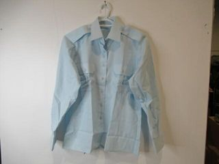 Womens long Sleeve Blue Dress Shirt  Size 18m 33