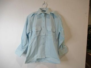 Womens long Sleeve Blue Dress Shirt  Size 8m 30
