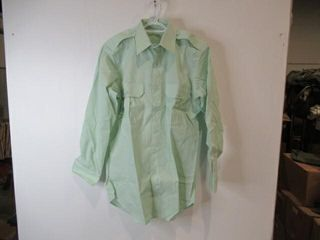 Mens Green long Sleeve Shirt  Size 15 33