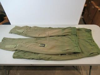 2  Green Flyers Pants  Size Small Tall