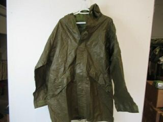 As Is OD Green Rainsuit Jacket  Size Small Reg