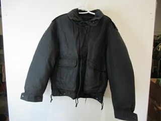 2  As Is Black Military Jackets  Size Med Short