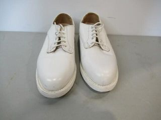 Mens Naval White Dress Shoes  Size 8