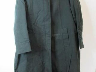 Womens Green Dress Overcoat Size 14 Tall