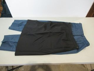 2  Womens Blue Dress Pants   Black Dress Skirt