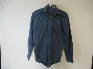 2  Blue long Sleeve Naval Combat Shirts