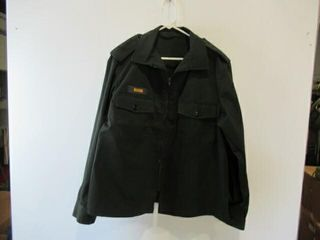 Mens Green Work Dress Jacket Size large Regular