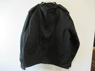 Mens Black Naval Combat Jacket Size Xl Tall