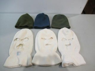 lot of 6 Assorted Wool Caps   BElaclavas