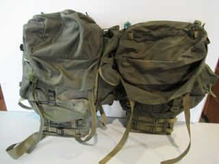2  As Is Steel Frame Army Backpacks